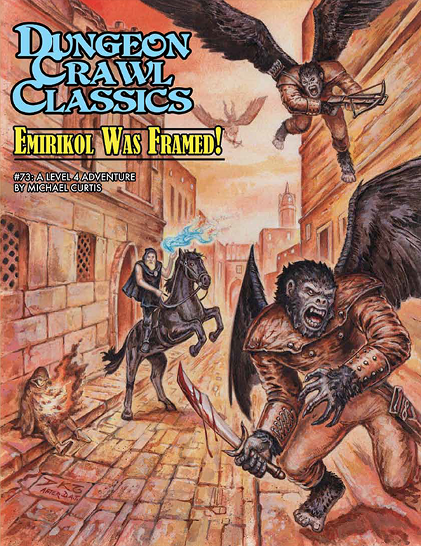 Cover of Dungeon Crawl Classics #73: Emirikol Was Framed!