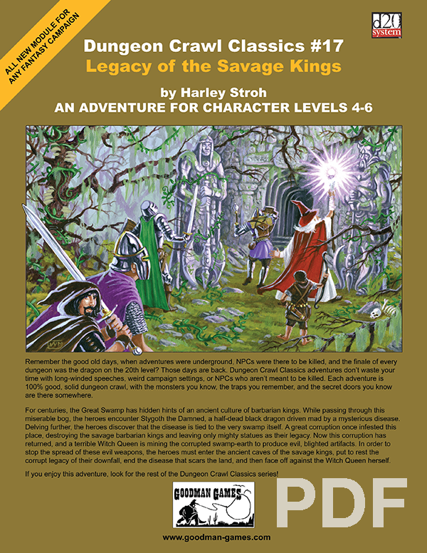 Cover of Dungeon Crawl Classics #17: Legacy of the Savage Kings