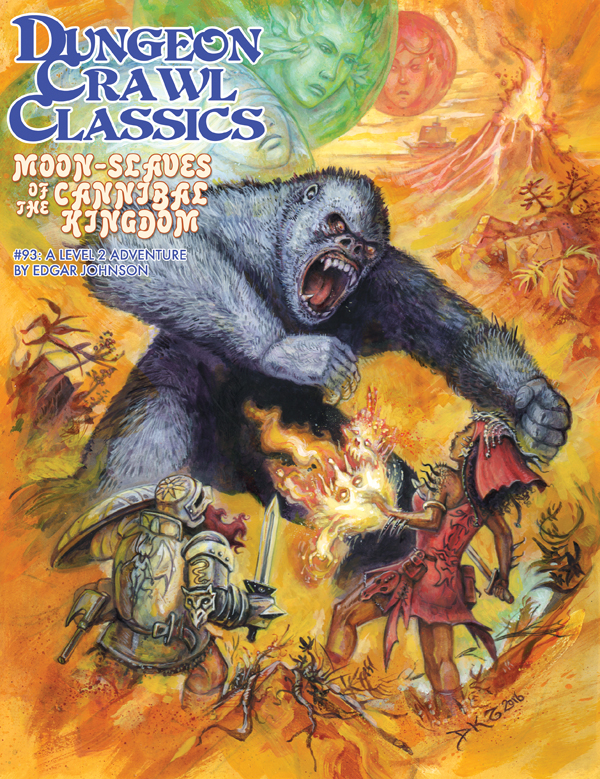 Cover of Dungeon Crawl Classics #93: Moon-Slaves of the Cannibal Kingdom