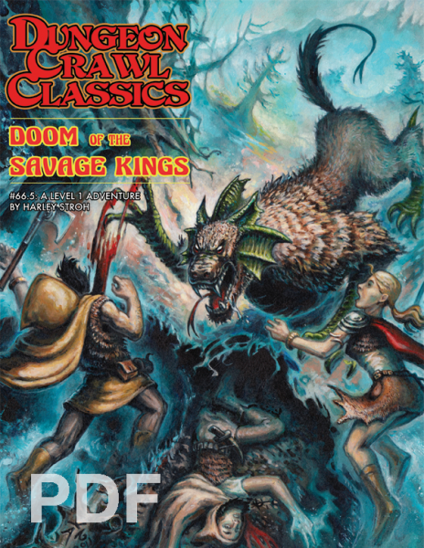 Cover of Dungeon Crawl Classics #66.5: Doom of the Savage King