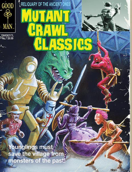 Mutant Crawl Classics 7: Reliquary of the Ancients: Gold Key Cover -  Goodman Games