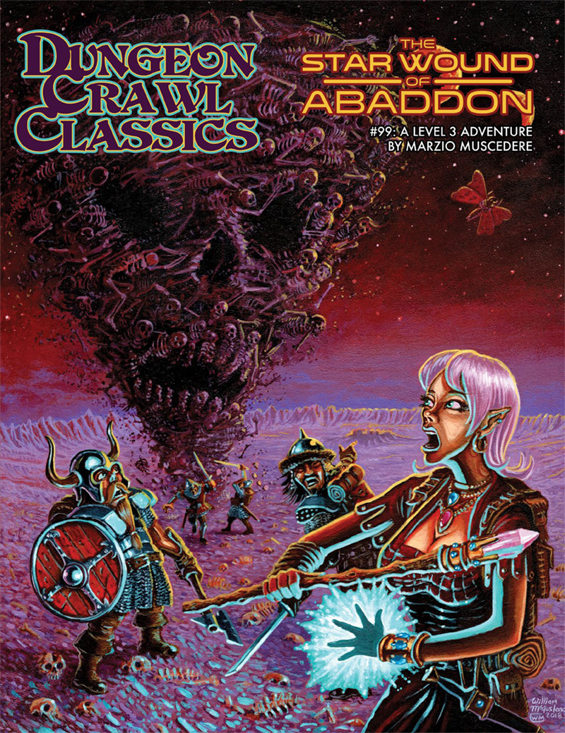Dungeon Crawl Classics #99: The Star Wound of Abaddon – Print + PDF