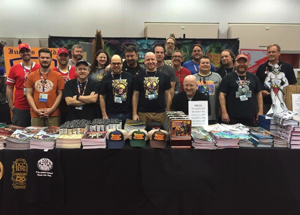 The Goodman Games crew at Gen Con 2016.