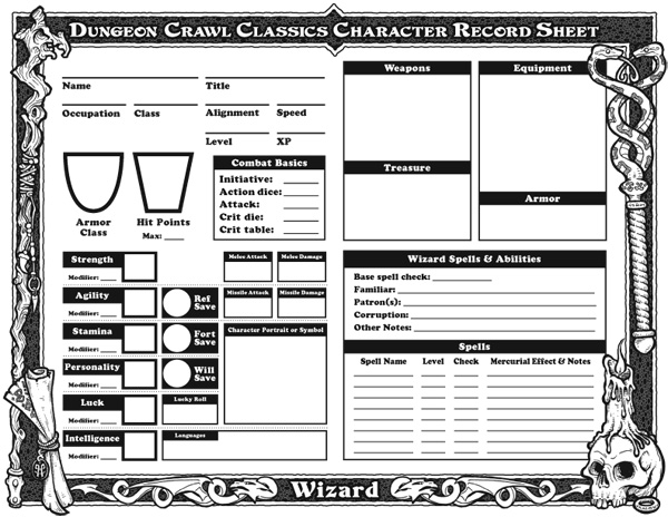 Mutant Future Character Sheet Front Character Sheets in 2019