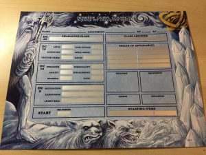 Scratch off character sheet