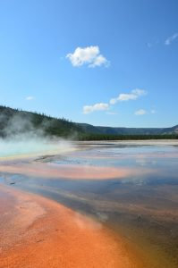 Ground-level view of Grand Prismatic Spring