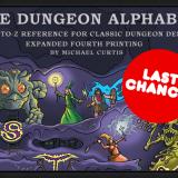 Last Call for Dungeon Alphabet Kickstarter!