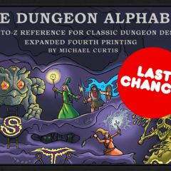 Last Call for Dungeon Alphabet Kickstarter!