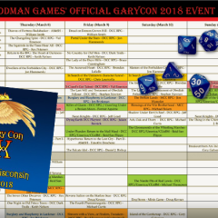 Gary Con Events and Registration!