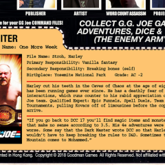 G.G. Joe File Cards Starter Set!