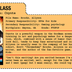 G.G. Joe File Card: Coyote