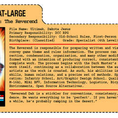 G.G. Joe File Card: The Reverend