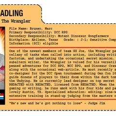 G.G. Joe File Card: The Wrangler