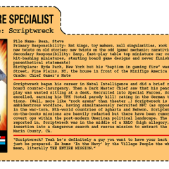 G.G. Joe File Card: Scriptwreck