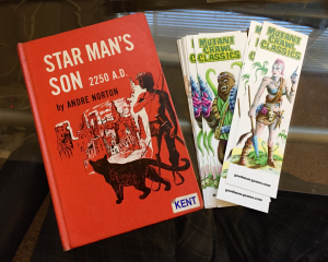 A 1952 1st edition of Starman's Son, along with a couple of his great-grandchildren.