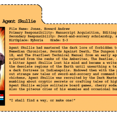 G.G. Joe File Card: Agent Skullie