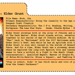 G.G. Joe File Card: Elder Grunt