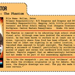 G.G. Joe File Card: The Phantom