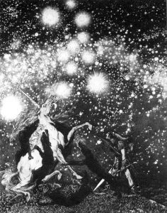 The original cover for King of Elfland's Daughter. (Illustration by Sidney Sime.)
