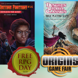 Visit Us At Origins – And Get Free RPG Day Product on Saturday!