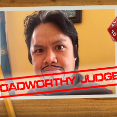Roadworthy: Judge Jay Domingo!