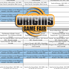 Plan Your Goodman Games Origins Events!