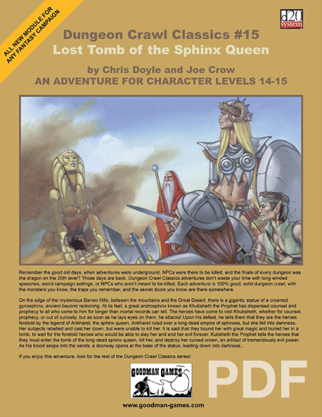Cover of Dungeon Crawl Classics #15: Lost Tomb of the Sphinx Queen