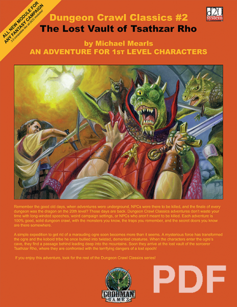 Cover of Dungeon Crawl Classics #2: The Lost Vault of Tsathzar Rho