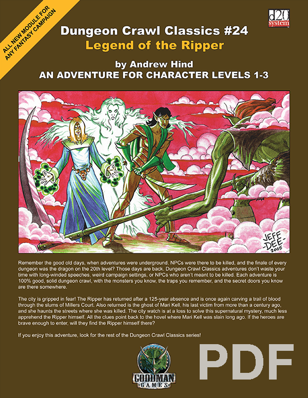 Cover of Dungeon Crawl Classics #24: Legend of the Ripper