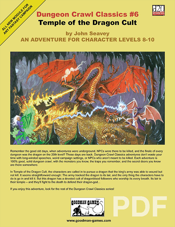 Cover of Dungeon Crawl Classics #6: Temple of the Dragon Cult