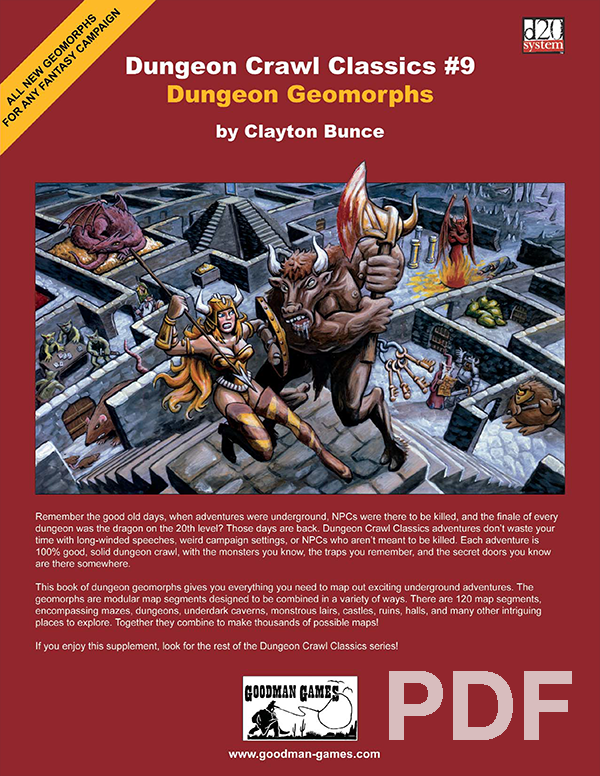 Dungeon Crawl Classics #9: Dungeon Geomorphs PDF