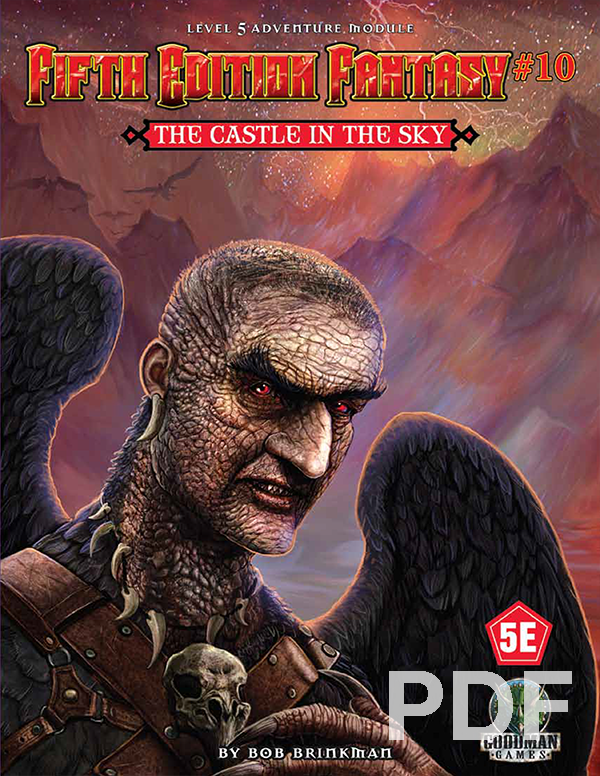Fifth Edition Fantasy #10 The Castle in the Sky PRINT + PDF BUNDLE