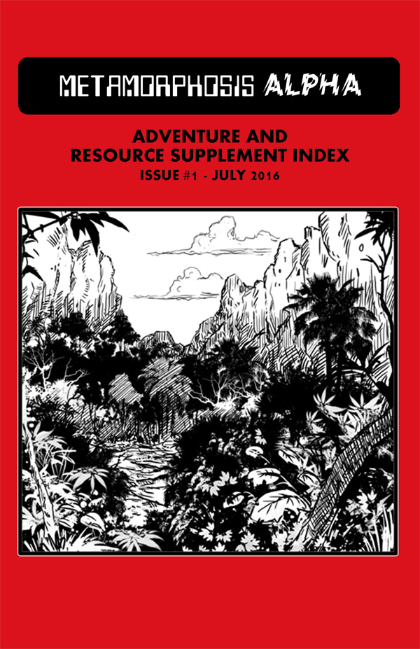 Metamorphosis Alpha Adventure and Resource Supplement Index