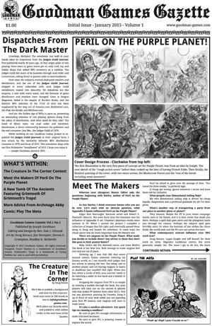 Goodman Games Gazette 01