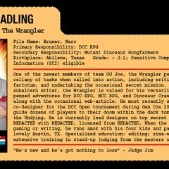 G.G. Joe File Card: The Wrangler