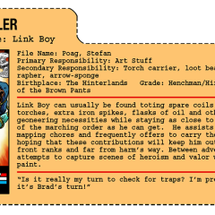 G.G. Joe File Card: Link Boy
