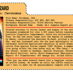 G.G. Joe File Card: Ceronomus