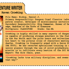 G.G. Joe File Card: Hack Adventure Writer