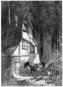"""""""How Nuth Would Have Practiced His Art Upon the Gnoles,"""" illustration by Sidney Sime"""