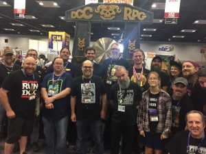 The Goodman Gang in front of the Gong at Gen Con last year