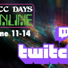 Twitch Streaming Schedule for DCC Days Online!