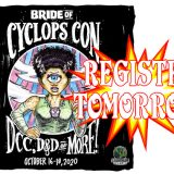 Event Registration Opens Tomorrow for Bride of Cyclops Con!