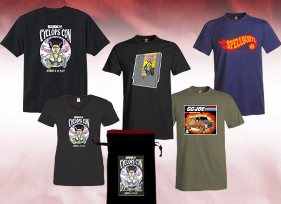 New T-Shirts and Swag For Bride of Cyclops Con