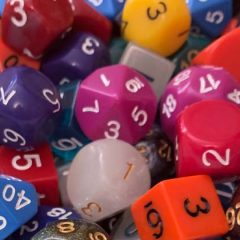New In The Online Store: Gigantic Two Pound Dice Assortment